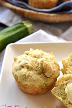 Savory Cheesy Zucchini Muffins are loaded with sharp cheddar & salty Parmesan, with flavors of garlic & dill. Enjoy straight from the oven with butter! Zucchini Muffin Recipes, Zucchini Muffins, Cheese Muffins, Summer Grilling Recipes, Summer Recipes, Yeast Bread Recipes, Baking Secrets, Shredded Zucchini, Frozen Desserts