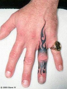 a31ff7ee171bd Flame finger Men Finger Tattoos, Hand Tattoos For Guys, Finger Tats, Finger  Tattoo