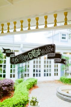 Fun sign- a great wedding detail and piece of decor! See more: http://theeverylastdetail.com/eclectic-navy-mint-peach-wedding-ideas/