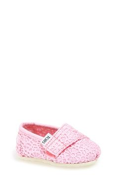 TOMS 'Classic Tiny - Crochet' Slip-On (Baby, Walker & Toddler) available at #Nordstrom