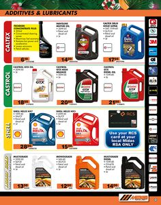 Need lubricants and additives before you start the new year? Prices only valid until 31st December 2015 so hurry!