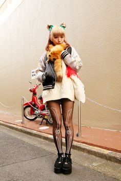 kawaii cute girl japan japanese fashion odango buns harajuku
