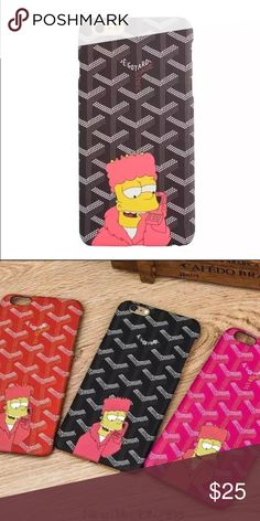 Killa Bart Retro iPhone 6 6S case - Pink Dope Gyard Killa Bart Simpsons iPhone case. Fits iPhone 6 and 6s. Beautiful pattern and artwork. This is for the pink :) Goyard Accessories Phone Cases