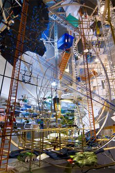 Sarah Sze is one of my favorite artists, and it's been too long since I've seen her work in person. Must remedy this.