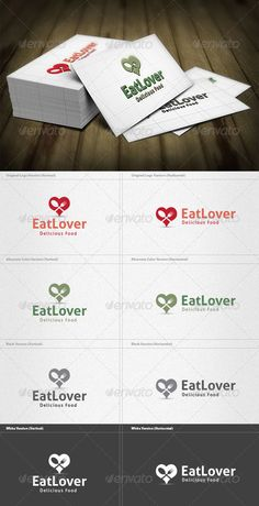 Eat Lover Logo  #GraphicRiver         Eat Lover Logo is a designed for Any types of companies. It is made by simple shapes Although looks very professional. The final file includes 8 variations of the Logo.  Featured:   Unique Slogan  AI CS3 Document  EPS CS Document  PDF Document  CMYK – 100 % Vector (Re-sizable)  8 Variations (Color, B/W & Inverts)    The free fonts used in the design are: Aller  Which can be downloaded here -  .fontsquirrel /fonts/Aller     Created…