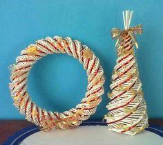 vánoční věneček na dveře a stromeček 35 cm