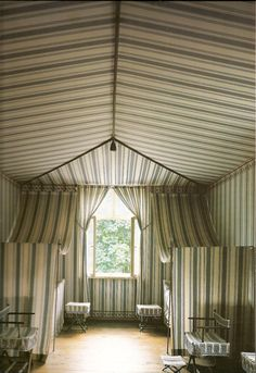 A tented guest room at Charlottenhof Palace, Potsdam, by Karl Friedrich Schinkel c. 1826