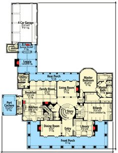 Plan W42156DB: Southern, Luxury, Premium Collection, Plantation Style, Corner Lot, Photo Gallery House Plans & Home Designs