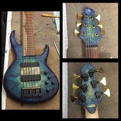 #634 24 17mm #nebulaburst Myrtle Burl top on a natural Makore body with a maple neck, florida rosewood fingerboard, titanium inserts, matching front and back peg head veneer and our #Super6 pickup system. Focused and pointed but warm and clear. #mtd #bass #MTDBass #luthier #handmade #bassgear #bassgram #bassplayer #bassguitar #BASSFORWARD #bartolini #hipshot #NAMM #namm2016 booth #4750