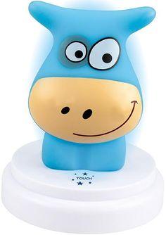 ALECTO Нощна LED лампа с докосване и таймер - синята крава - MiniMod Night Lamps, Pink Blue, Led