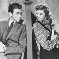 """The Shop Around the Corner starring Jimmy Stewart and Margaret Sullavan. This film was based on the 1937 Hungarian play """"Parfumerie"""" by Miklós László. You've Got Mail is also based on Parfumerie, but it also references The Shop Around The Corner. Old Movies, Vintage Movies, Great Movies, Golden Age Of Hollywood, Vintage Hollywood, Classic Hollywood, Drame Romantique, Margaret Sullavan, Light Film"""