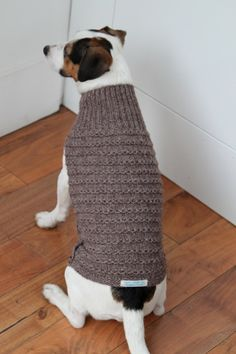 knitted dog coat  by tinyinc