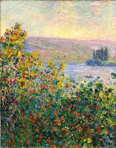 bofransson: Claude Monet - Flowerbeds at Vetheuil, 1881