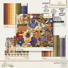 Digital scrapbooking kit from Sherwood Studio GATHER FRIENDS bundle http://www.thedigichick.com/shop/Gather-Friends-Bundle.html