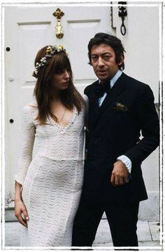 Net Image: Serge Gainsbourg and Jane Birkin: Photo ID: . Picture of Jane Birkin - Latest Jane Birkin Photo. Serge Gainsbourg, Gainsbourg Birkin, Estilo Jane Birkin, Jane Birkin Style, Mode Inspiration, Wedding Inspiration, Mode Vintage, Vintage Hippie, Vintage Style