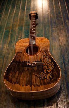 Handmade Acoustic Guitar by custom guitar builder Jay Lichty, artwork by Clark Hipolito Guitar Painting, Guitar Art, Cool Guitar, Guitar Tattoo, Guitar Songs, Custom Acoustic Guitars, Acoustic Guitar Case, Custom Guitars, Painted Ukulele