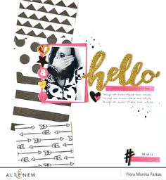 black patterned paper wits stamps