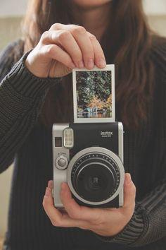 Fujifilm Instax Mini 90 Black Camera - Urban Outfitters - www. Fujifilm Instax Mini 90, Polaroid Instax, Instax 8, Fuji Instax, Photography Camera, Photography Tips, Digital Photography, Portrait Photography, Camara Fujifilm