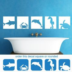 Hey, I found this really awesome Etsy listing at http://www.etsy.com/listing/70145670/wall-decal-sea-horse-dolphin-shark