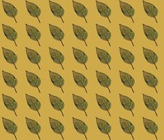 feuille_fusain fabric by mimix on Spoonflower - custom fabric Custom Fabric, Spoonflower, Fabric Design, Charcoal Picture
