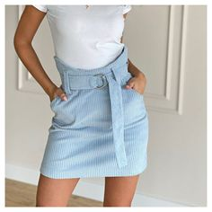 Waist Skirt, High Waisted Skirt, Outfit Goals, Mini Skirts, Outfits, Clothes, Fashion, Boots, Kleding