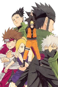 Masashi Kishimoto, Naruto, NARUTO Illustrations, Kakashi Hatake, Ino Yamanaka