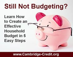 How to Create an Effective Household Budget | Cambridge-Credit.org