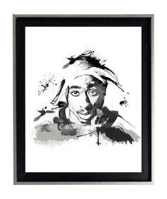 Tupac Shakur 2Pac Watercolor Art Print Matte Print by AmorImprimo
