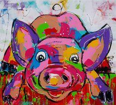 Varken Liz - www.vrolijkschilderij.nl