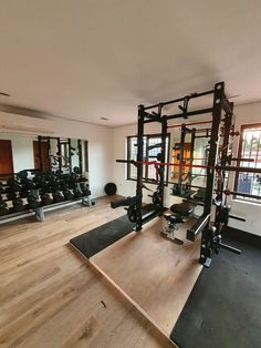 Home Gym: Discuss and show off your home gym, home made equipment and general keeping fit at home Home Gym Basement, Home Gym Garage, Diy Home Gym, Gym Room At Home, Home Gym Decor, Best Home Gym Setup, Dream Home Gym, Workout Room Home, Workout Rooms