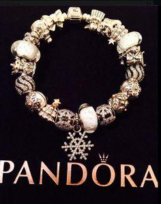 White Christmas Pandora bracelet