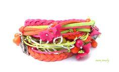 Bracelet fleur Boho Wrap Bracelet Berry bijoux par insoujewelry