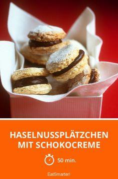 Haselnussplätzchen mit Schokocreme - smarter - Zeit: 50 Min. | eatsmarter.de
