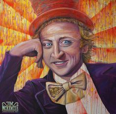 Willy Wonka Acrylic Painting #WillyWonka #WonkaMeme #WonkaPaining #Condecending #Wonka #psychedelic #psychedelicArt #surrealism #surreal #ConceptArt #digital #popsurrealism #DarkPopSurrealism #JimMcKenzie #Art #LowBrowArt