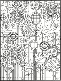 Welcome to Dover Publications Creative Haven Garden Party Stained Glass Coloring Book by ayorca