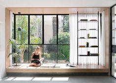 Thin black lines frame details in renovated Tel Aviv apartment 19
