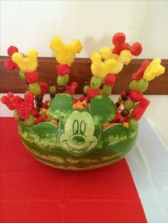 Mickey Mouse fruit salad (fruit salad ideas parties appetizers)