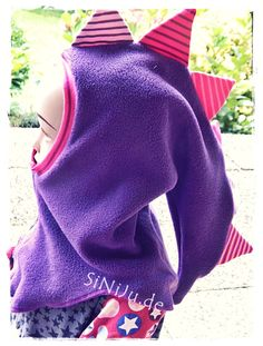 Drachenmütze  für Mädchen auch in lila oder pink - einfach zauberhaft  #drachenmütze #Schlupfmütze
