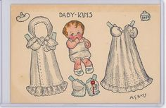 Paper Doll Cut Out Hays Biby Kins Doll Series M35812 | eBay