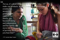 How can you beat that? We agree! #MataTraders on their fair trade relationships #FairTradeMonth