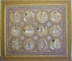 Burmese Beaded Fabric