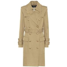3d959c8efd Balmain Cotton Trench Coat ($4,015) ❤ liked on Polyvore featuring  outerwear, coats,