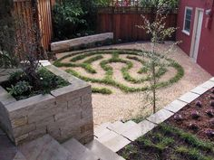 Living art Creating a serene space topped the list when landscape designer Beth Mullins created this backyard retreat near San Francisco's Glen Park. The owners use their garden mainly to relax and unwind, and dreamed of having their own labyrinth. So Mullins created a living labyrinth outlined with Carex divulsa, an extremely tough and versatile grass-like sedge that can handle sun or shade and take drought once it's established after a couple years of growth. Now mature, the sedge needs…