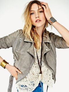 Free People Muubbaa Right Tune Belted Motorcycle Jacket on shopstyle.com