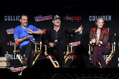 Andrew Lincoln, Melissa McBride, and Jeffrey Dean Morgan at an event for The Walking Dead (2010)