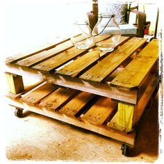 Outdoor Pallet Coffee Table. $200.00, via Etsy.