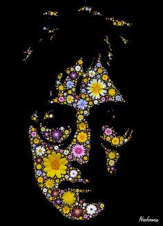 John Lennon Flower Portrait