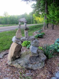 love this stone construction by Melody Johnson's hubby Dave!