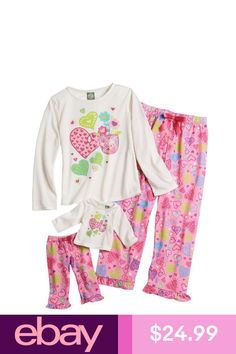 d618233970 Girls  Clothing (Sizes 4   Up) Dollie Me Girl And Doll Matching Valentine s  Heart Pajama Outfit American Girls