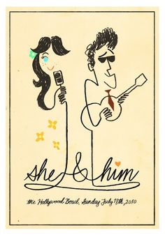 "This is a band called ""She and Him"". #Zooey_Deschanel #M_Ward"
